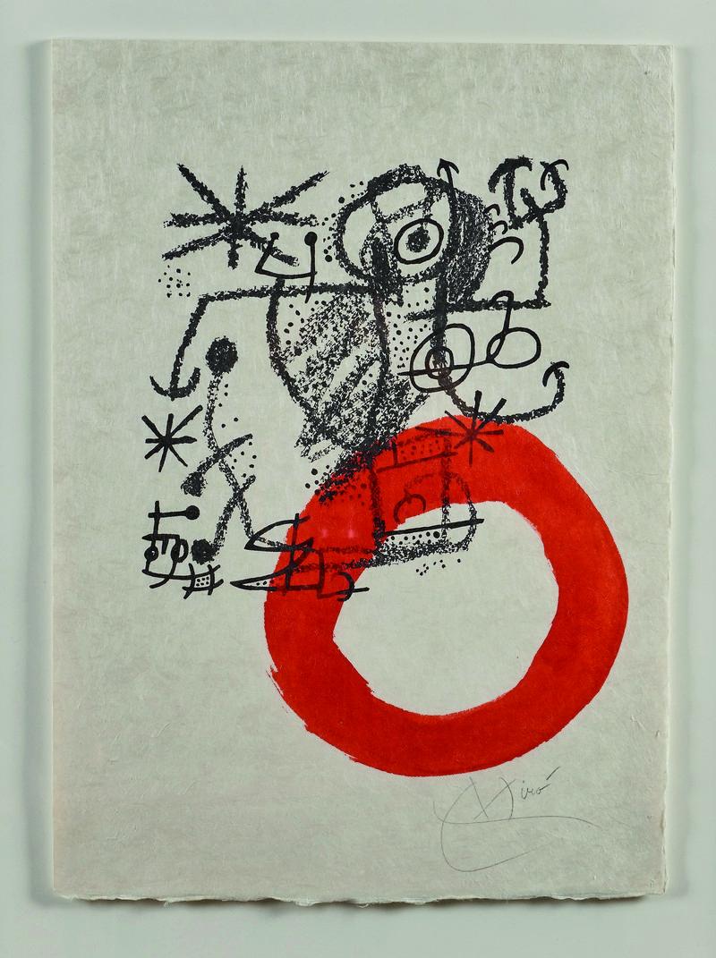 JOAN MIRÓ litografía