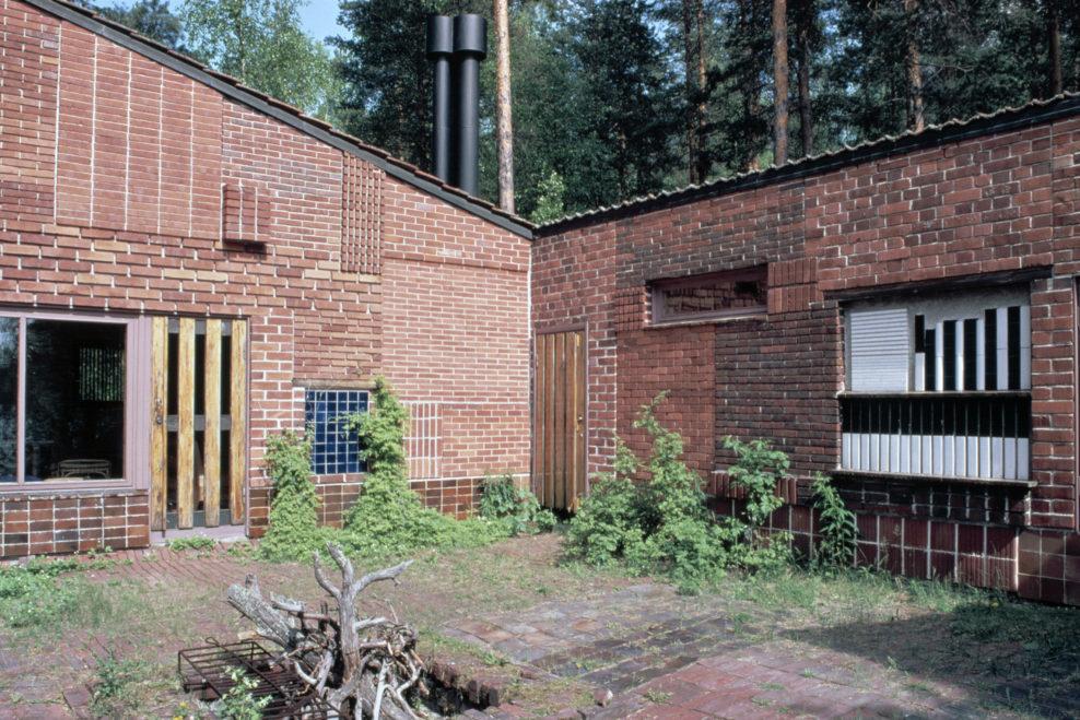 Fasaden på huset Muuratsalo. Foto: alvaraalto.fi.