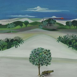 Bhupen Khakhar, Untitled (Landscape with Cannon) 落槌價:1,600,000 HKD