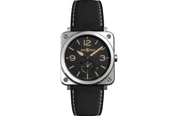 Reloj de pulsera BELL & ROSS Aviation en acero inoxidable para caballero
