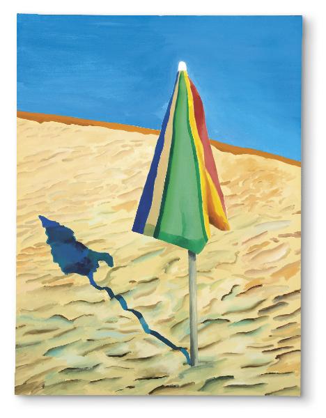David Hockney, Beach Umbrella, 1971 Image via Christie's