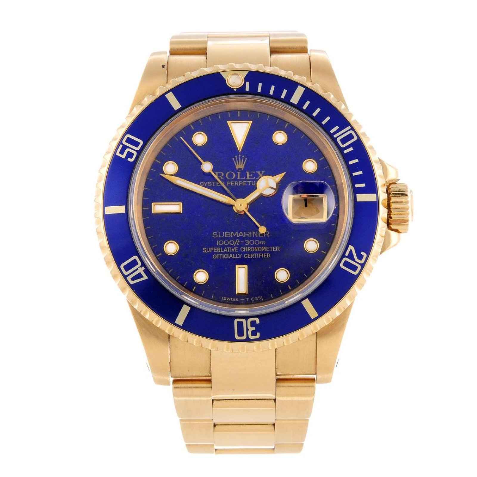 b43a01e48cf The Full-Gold Submariner - with a touch of blue – Blog – Barnebys.com