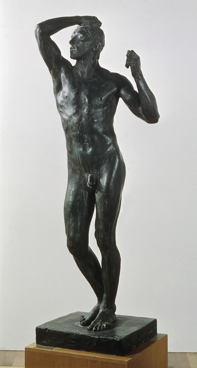 """""""Bronsåldern"""" av Auguste Rodin. Hans första verk i den kännetecknande realismstilen."""