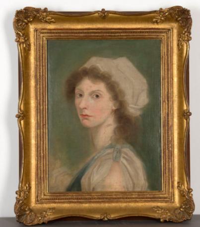 Jeune femme au fichu blanc Anonyme, fin XVIIIe-début XIXe Dogny Auction