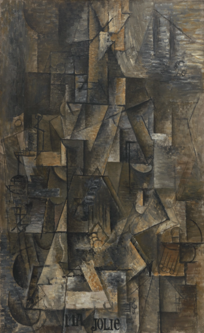 "Pablo Picasso ""Ma Jolie"" Paris, winter 1911-12. Image: MoMA"