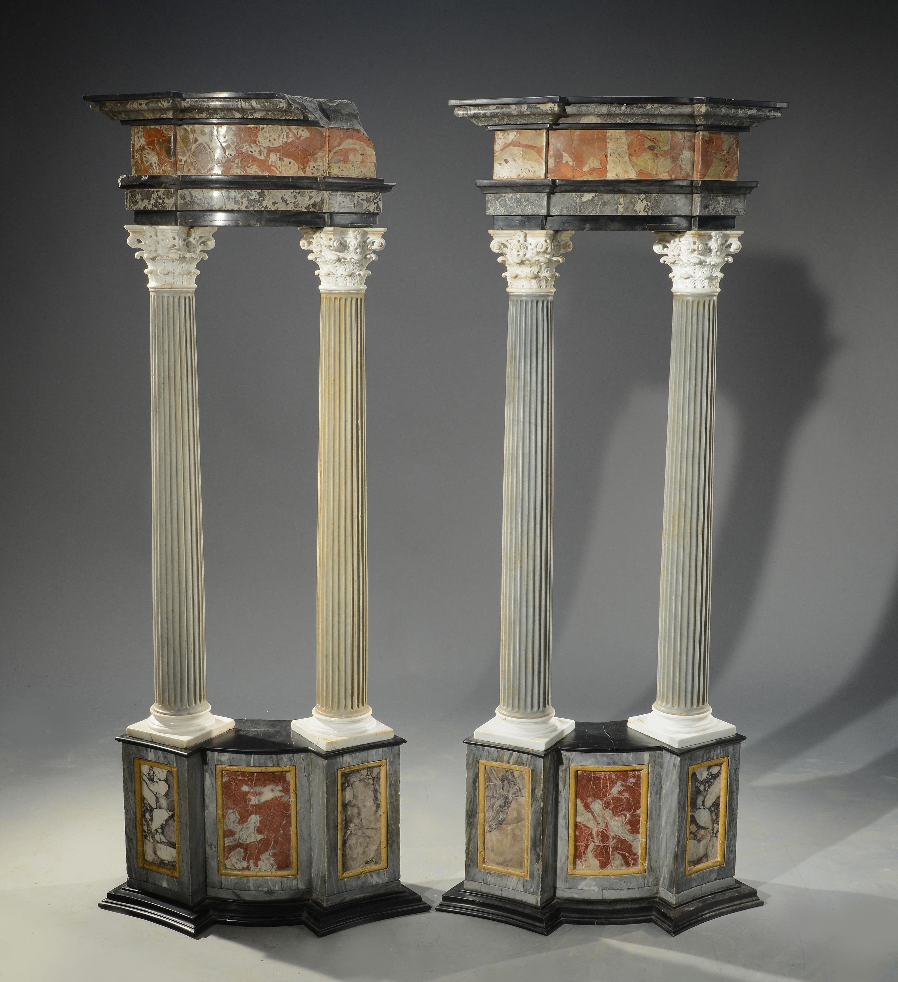 Pair of architectural columns, 19th century