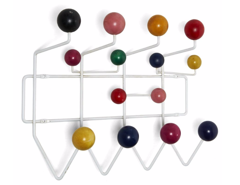 """Charles & Ray EAMES (1907-1978 & 1912-1988) Porte-manteau dit """"Hang-It-All"""" Artcurial"""