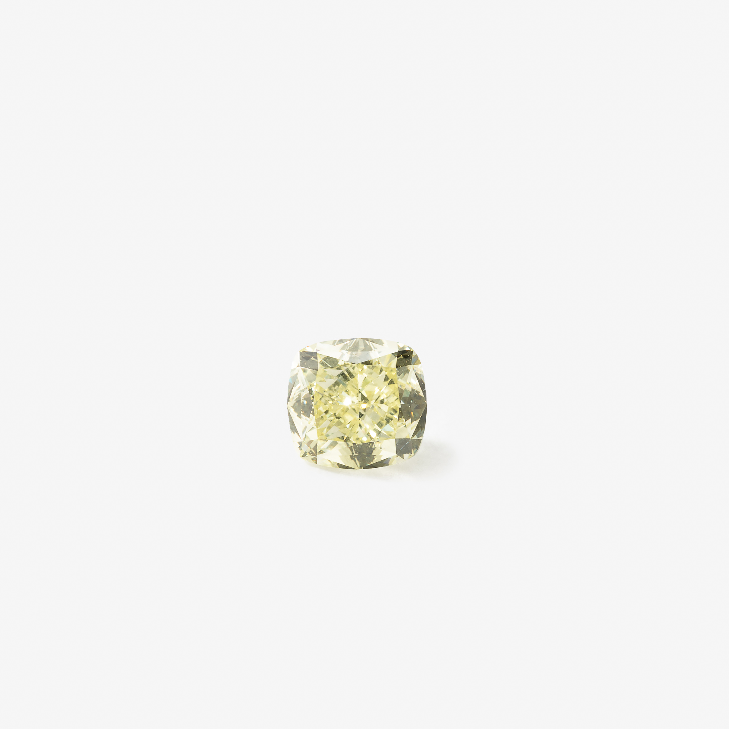 A cushion-cut diamond weighing 1.39 carat With GIA certificate: Fancy Light Yellow, Natural Even, IF, numbered GIA 2173378445, 18 November 2015 Estimate: $10 500-14 000 (€ 9 000 - 12 000)