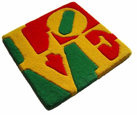 Robert Indiana  13 September 1928, New Castle  Summer Love  Multiple made of wool  Year: 2006  Catawiki