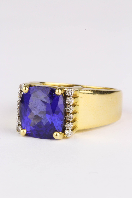 A Tanzanite and Diamond Dress Ring. Photo: John Pye Auctions