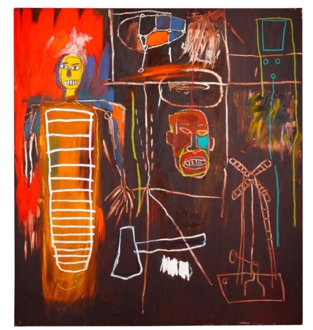 Jean-Michel Basquiat, Air Power, 1984 Estimate: £2 500 000-3 500 000 Hammer price: 7 093 000