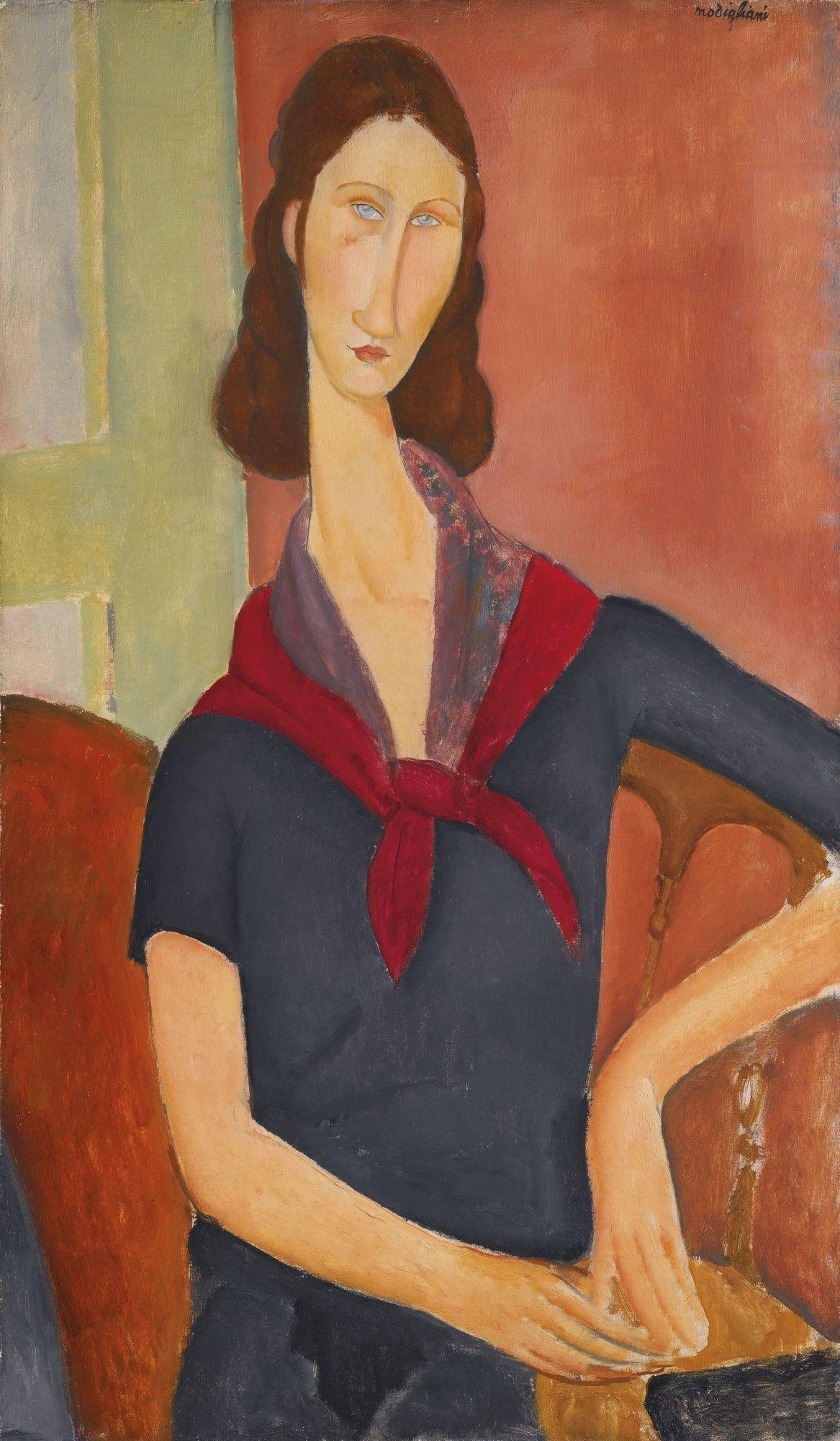 Amedeo Modigliani, 'Portrait of Jeanne Hébuterne with a Scarf', 1919