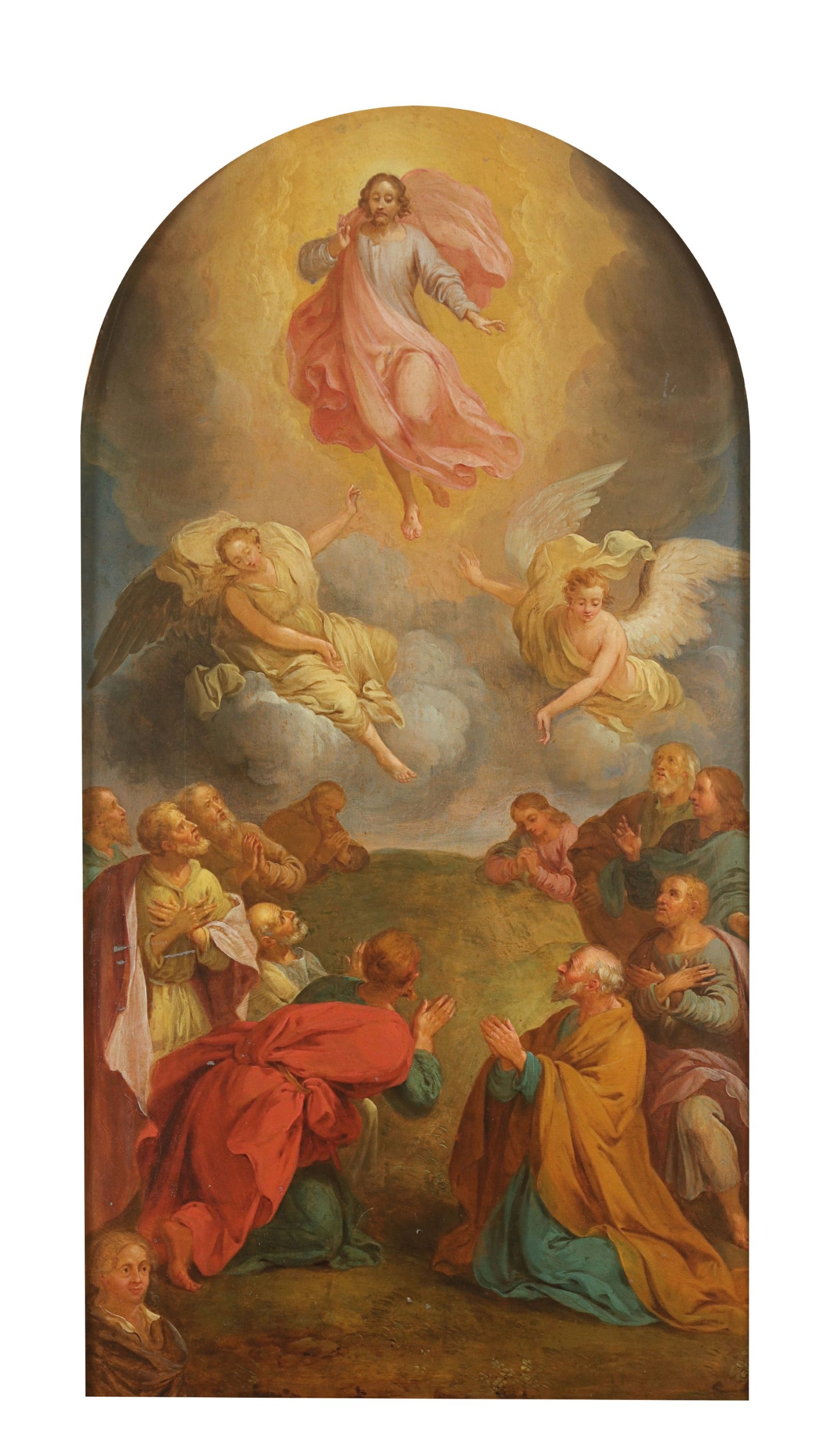 Eustache Le Sueur, 'Ascension of Christ', oil on metal. Photo: Hessink's