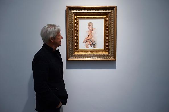 """L'oeuvre """"Make America Great Again"""" est en ce moment exposée à la Maddox Gallery de Londres Photo : NIKLAS HALLE'N/AFP/Getty Images)"""