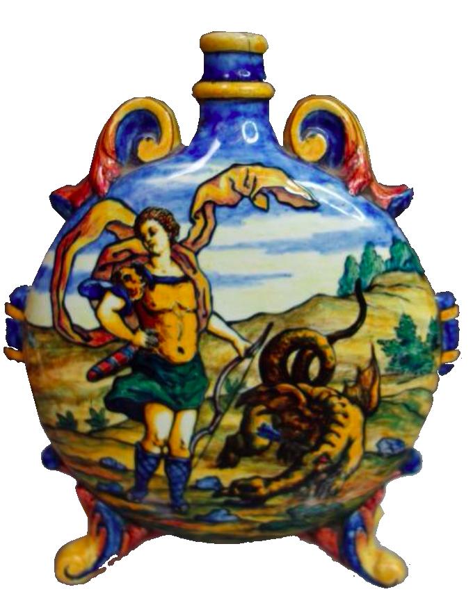 """Gourde, """"Saint-Georges terrassant le dragon"""", 1877"""