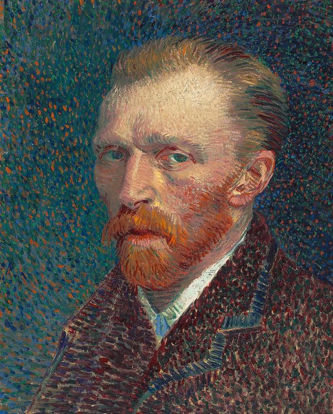 Vincent van Gogh, Autoportrait, 1887, image © The Art Institute Chicago