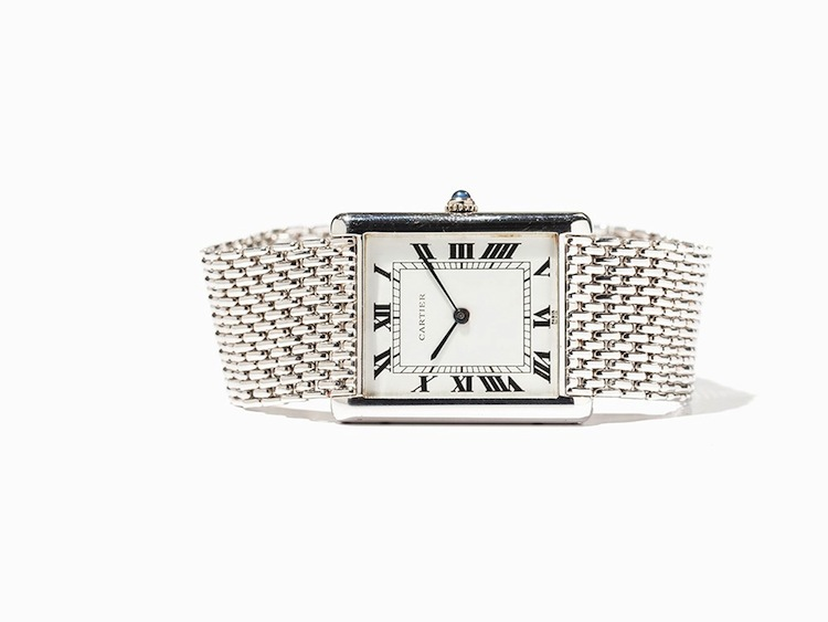 Cartier Tank Extra Large. Estimated at $15 400. Auctionata