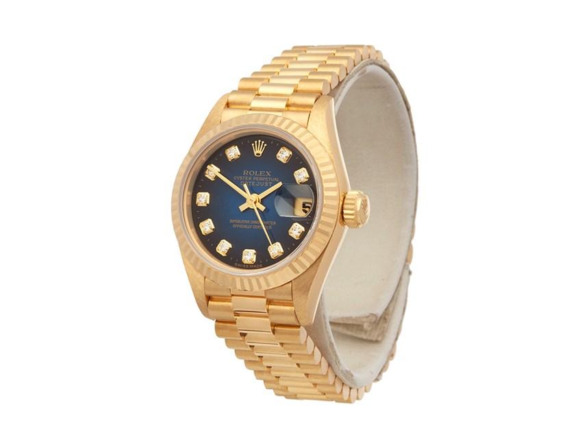 1995 Rolex Datejust 26 18k Yellow Gold