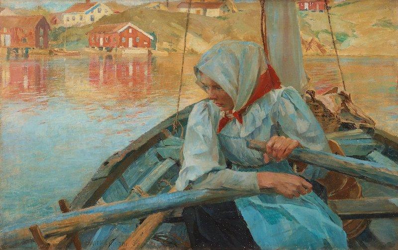 """En av mina personliga favoriter i samlingen är Carl Wilhelmsons """"Fiskarflicka"""" som är daterad -95"""