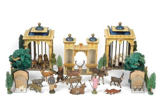 Zoo of Pfeiffer's Tipple Topple Figures, 1900 Opening price: $1000