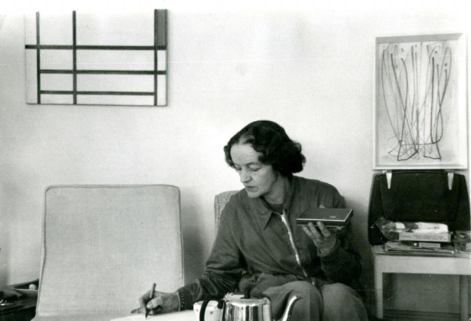 Charles Gimpel, Photograph of Barbara Hepworth at home c.1957–8 © Estate of Charles Gimpel Courtesy Gimpel Fils, London/ Tate