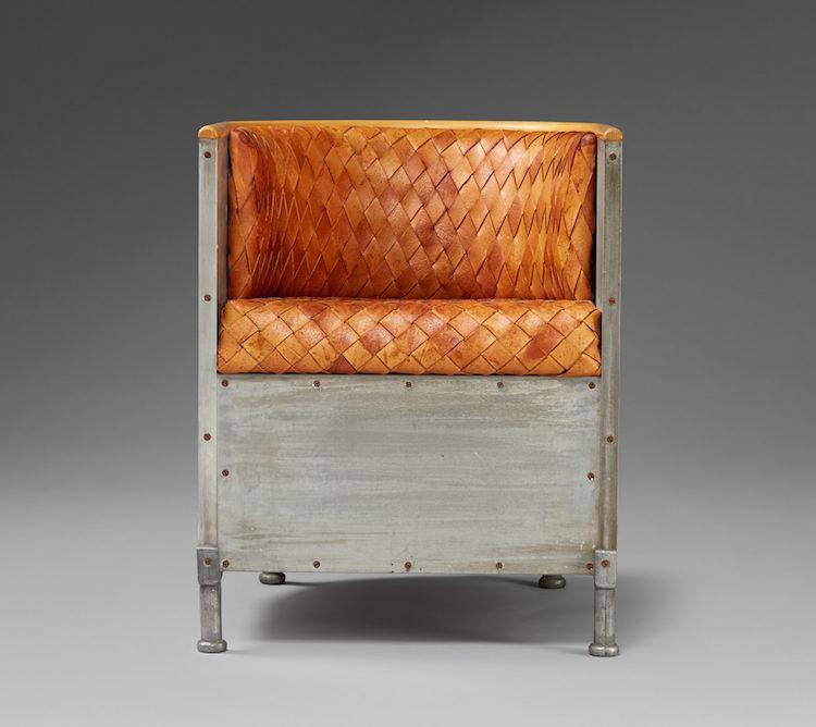 """Mats Theselius, fåtölj, """"Aluminiumfåtöljen"""". Såld för 80.000 kr på Uppsala Auktionskammares Internationella Kvalitetsauktion 20160614"""