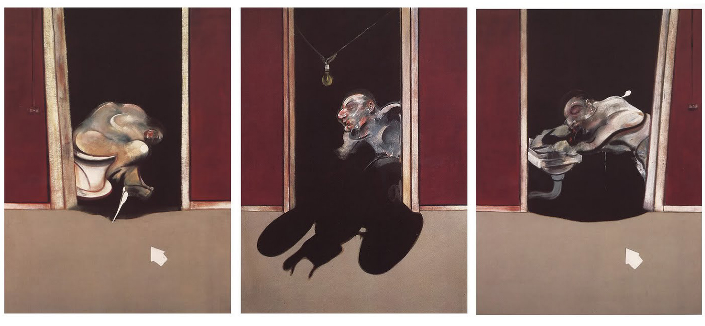 Francis Bacon, Triptych May-June, 1973, 1973, immagine via The Paris Review