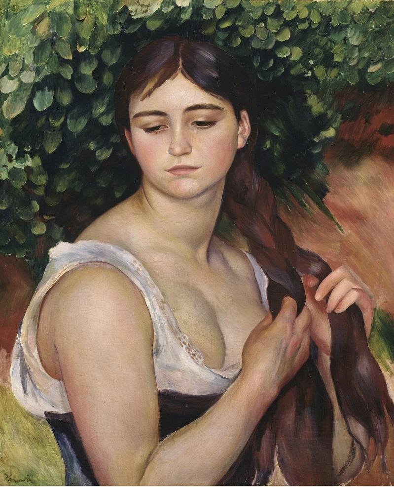 PIERRE-AUGUSTE RENOIR. La trenza (1886-1887). © Museum Langmatt