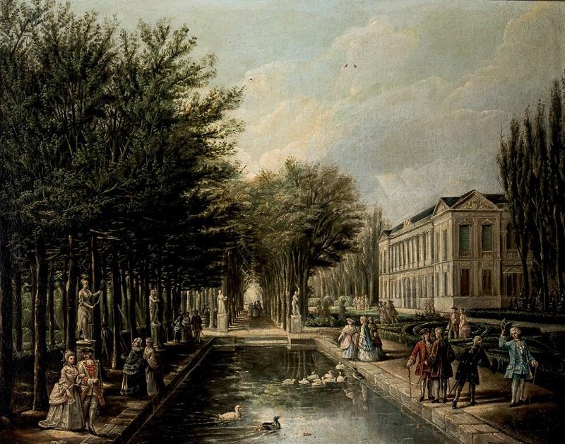Lote 129: ESCUELA EUROPEA. Jardín de Palacio (S. XVIII). Precio de salida: 1.400 €