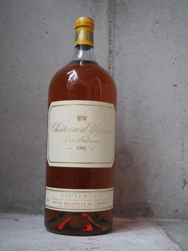 Château d'Yquem, Sauternes, 1985 ( 6lt - Imperiale) Fin des enchères le 13 février Estimation basse: 1 500 euros