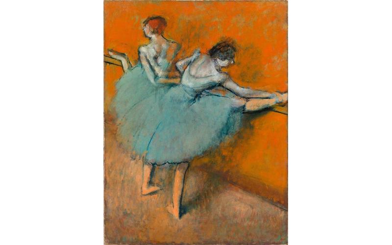 Edgar Degas, Dancers on the bar, c. 1900