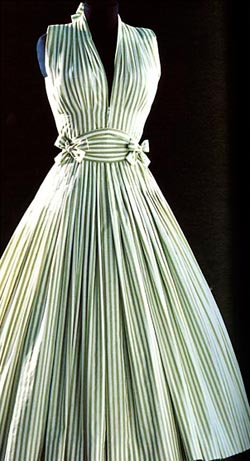 La fameuse robe rayée vert Carven