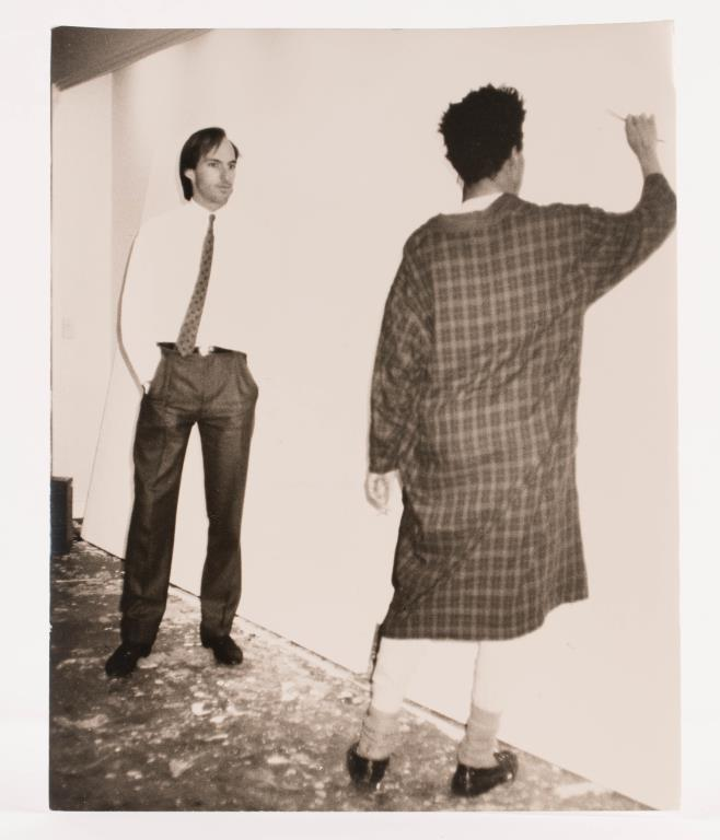 Andy Warhol, Jon Gould and Jean Michel Basquiat gelatin silver print. 10 x 8 inches. unsigned