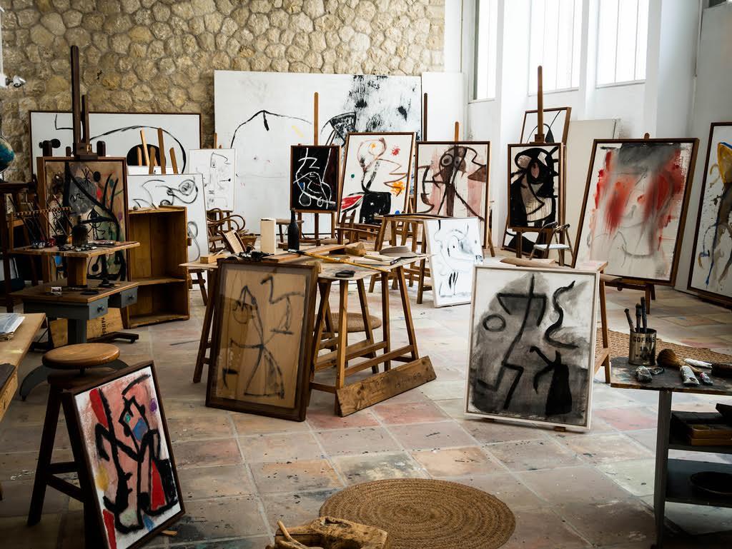 Studio de Joan Miró à Palam, image via flickr
