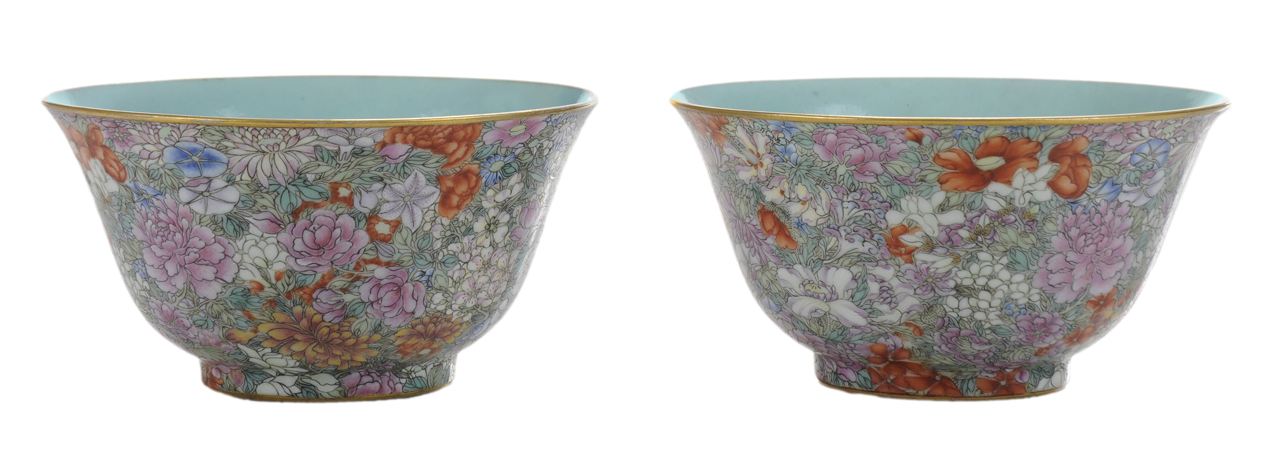 Pair Chinese porcelain cups