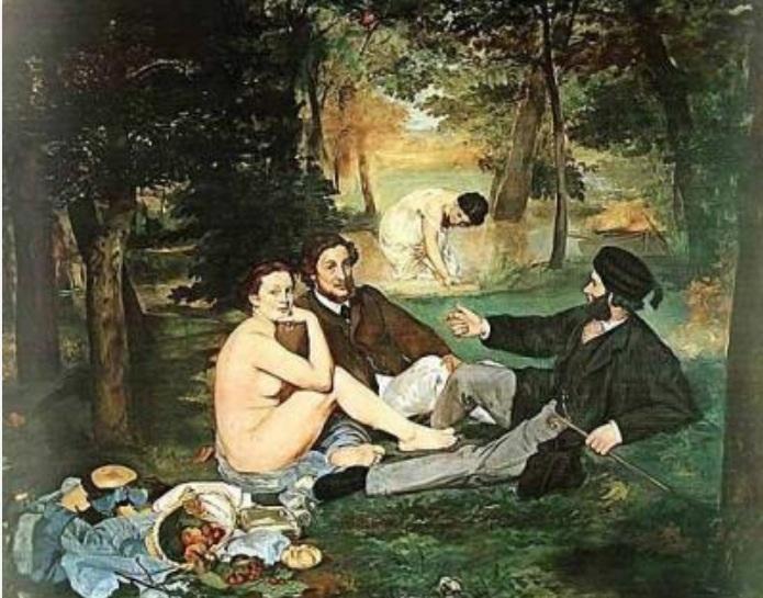 "Edouard Manets "" Frukost i det gröna."""