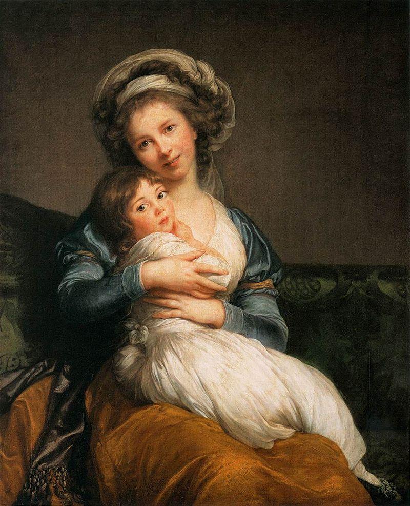Élisabeth-Louise Vigée-Lebrun, Selbstportrait mit Tochter, 1786 Musée du Louvre, Paris