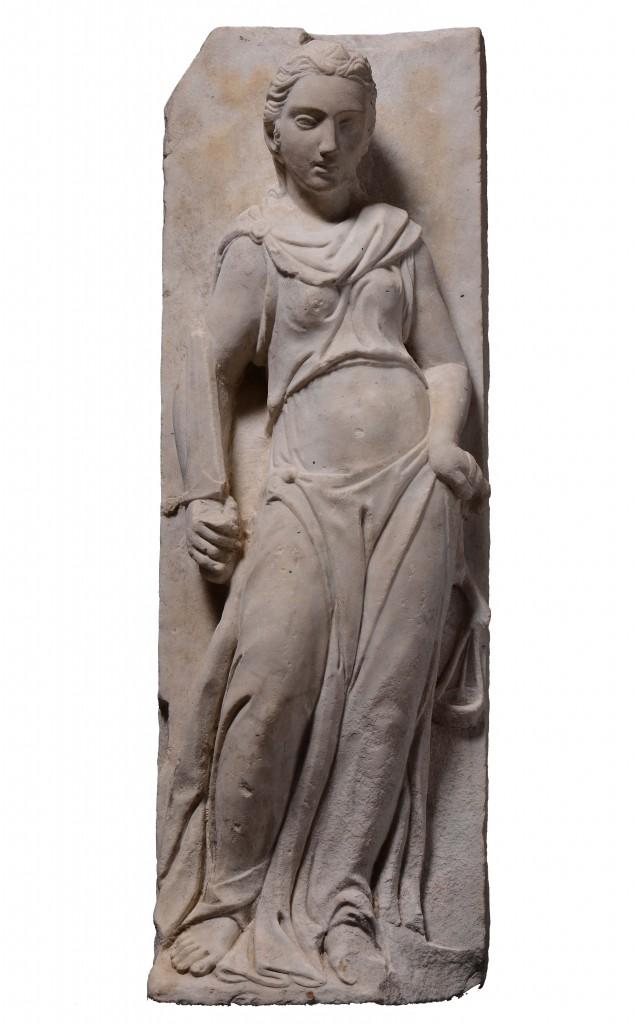 Sculpture en marbre représentant une allégorie de la justice Estimation: 15 000 - 18 000€