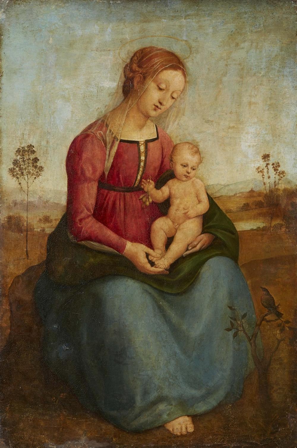 Italienischer Meister wohl des frühen 16. Jahrhunderts, Madonna mit Kind in einer Landschaft, Öl/Holz | Foto: Lempertz