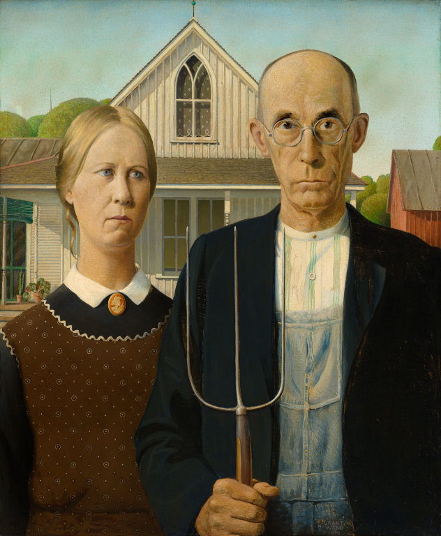 Grant Wood, American Gothic, 1930.
