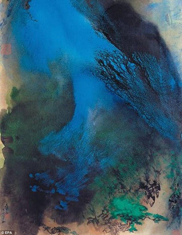 Une oeuvre du peintre Zhang Dagian, également copié et volé
