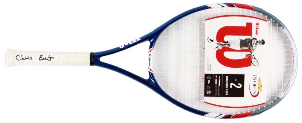Chris Evert signed tennis racket. Photo: Pristine Auctions.