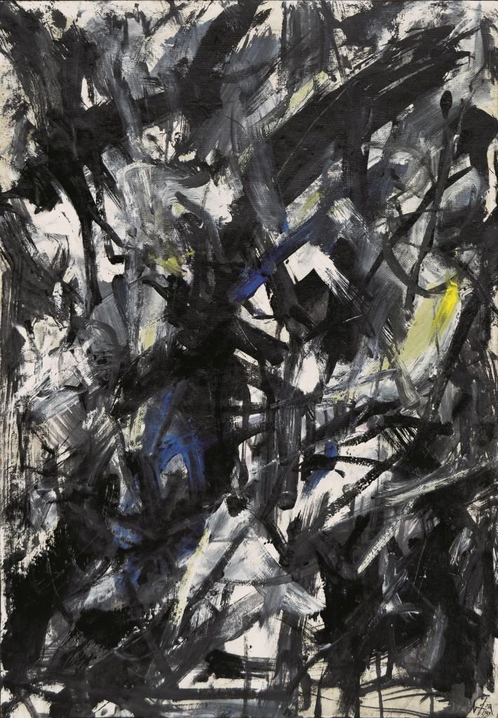 Emilio Vedova Choc des situations, 1959 Huile sur toile Estimation: 80 000 - 100 000 euros