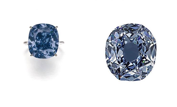 Links: Rechts: Der Blaue Wittelsbacher sah ursprünglich anders aus (Foto: Christie's)