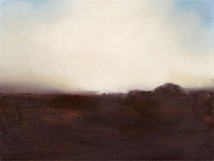GERHARD RICHTER (* 1932 Dresden) - Teyde landscape (sketch), oil / canvas, titled, signed and dated, 1971