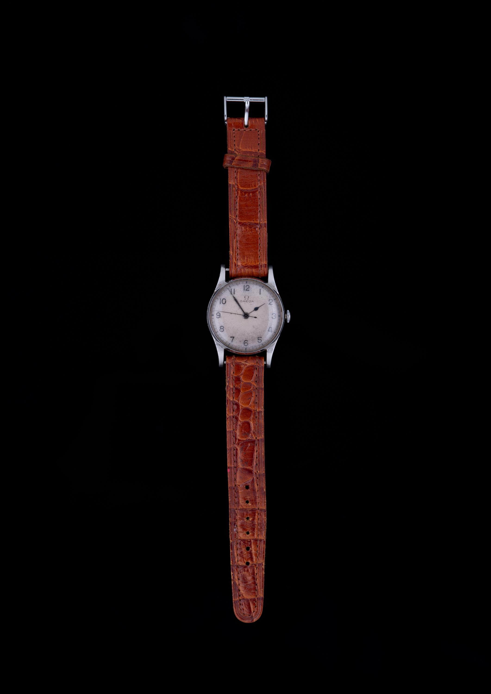 Omega Air Ministry Gentleman's Steel Wristwatch, c. 1940. Photo: Cheffins