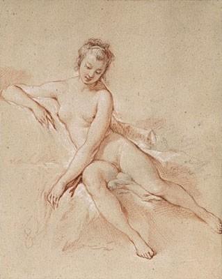 François Boucher - A seated female nude Adjugé pour 326 000 euros chez Christie's à New York le 24 janvier 2008