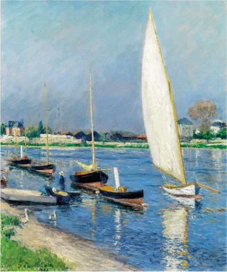 古斯塔夫·卡耶博特, Voiliers sur la Seine à Argenteuil, 1886年