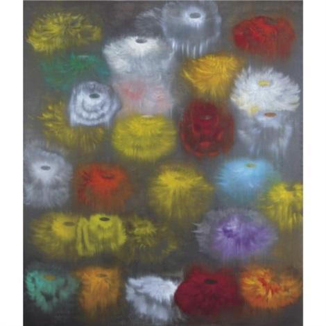 Ross Bleckner, Sea and Mirror (1996). Bild från Artnet.