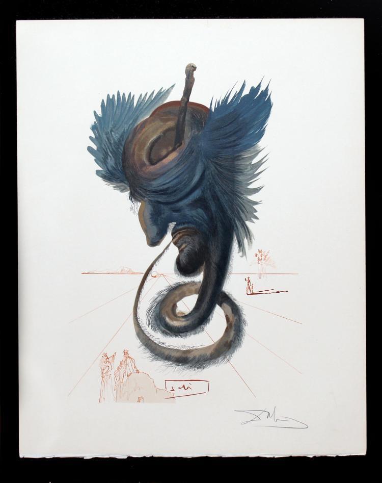 SALVADOR DALÍ - The Black Cherub, 1964